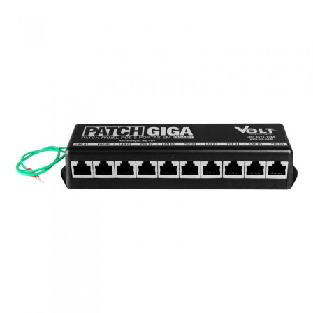 Patch Panel Poe 5 Portas Gigabite 48v Volt