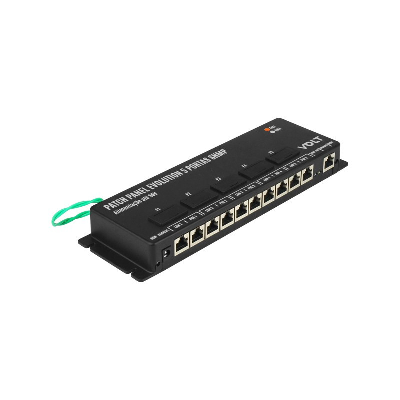 Patch Panel Poe Fast 05p Evolution Gerenciavel Snmp Volt