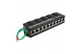 PATCH PANEL POE 5 PORTAS FAST ETHERNET ATÉ 48V - VOLT