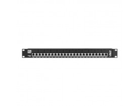 PATCH PANEL POE 12 PORTAS FAST ETHERNET ATÉ 48V - VOLT